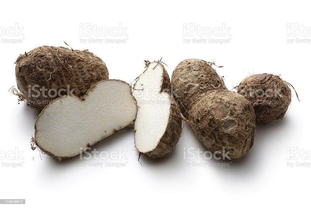 Vegetables: Taro Isolated on White Background royalty-free stock photo