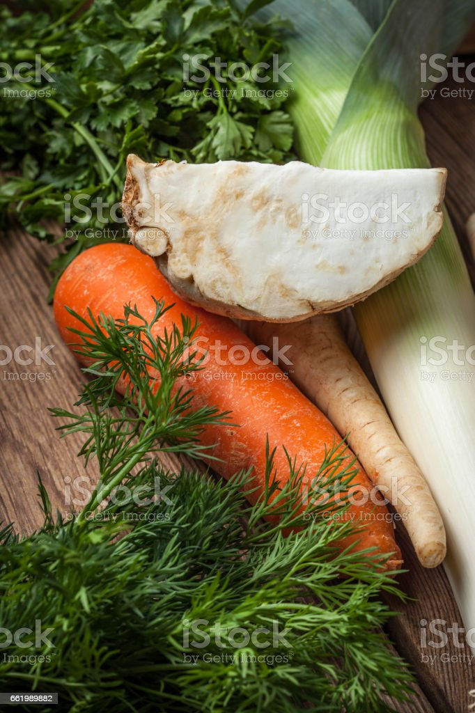 Vegetables to make broth. royalty-free stock photo