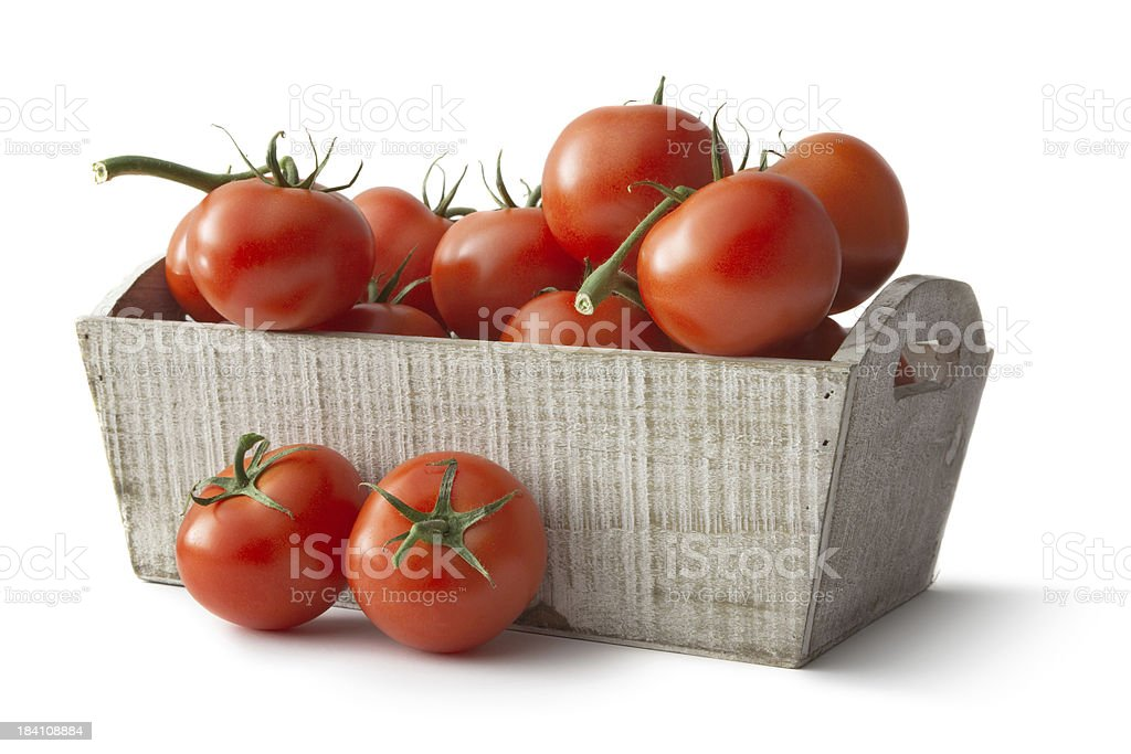 Vegetables: Tomato Isolated on White Background royalty-free stock photo