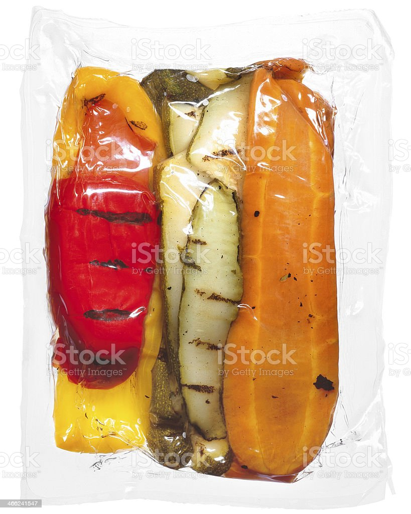 Vegetables vacuum packed stock photo