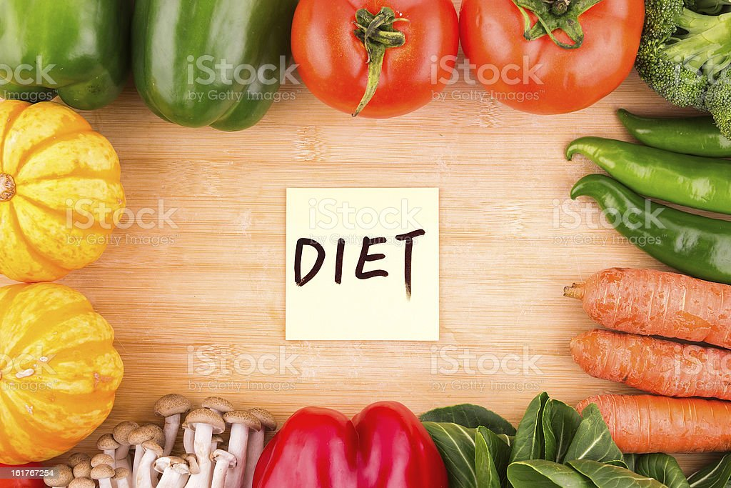 vegetables  variety and diet background stock photo