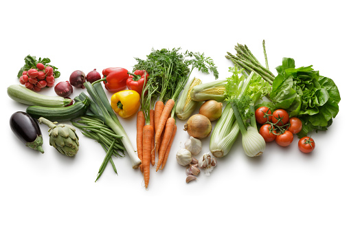 istock Vegetables: Variety Of Vegetables Isolated on White Background 468479986