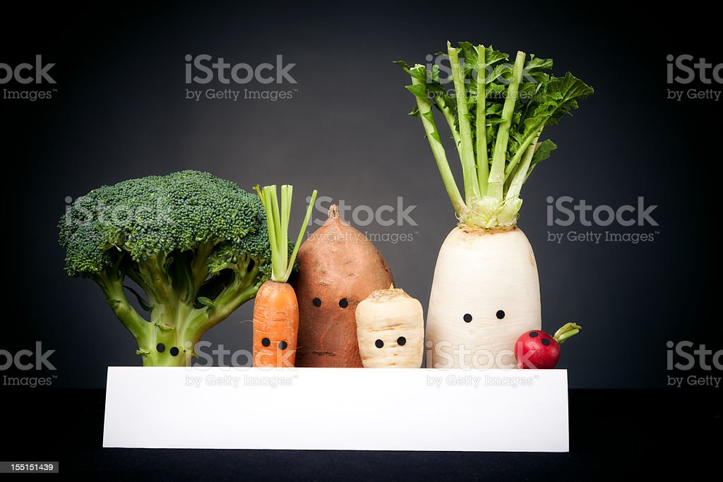 vegetables with eyes royalty-free stock photo