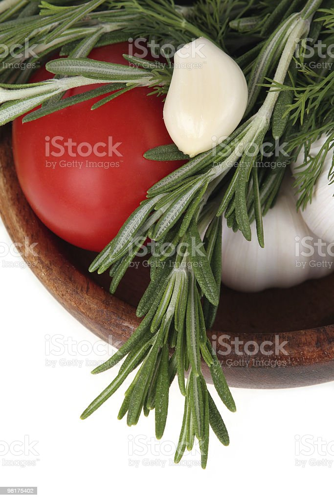 Vegetables with herbs royalty-free stock photo