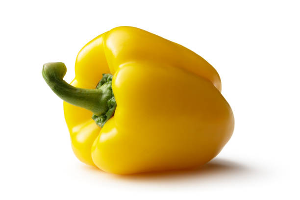 Vegetables: Yellow Bell Pepper Isolated on White Background Vegetables: Yellow Bell Pepper Isolated on White Background yellow bell pepper stock pictures, royalty-free photos & images