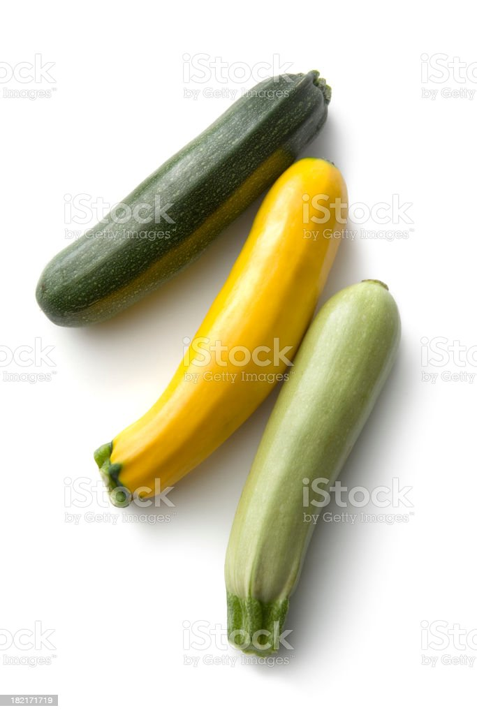 Vegetables: Zucchini Isolated on White Background stock photo