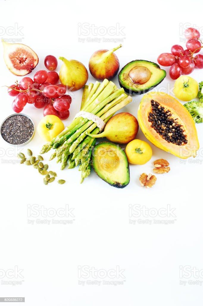 Vegetarische Hintergrund oder sauber Essen Konzept. – Foto