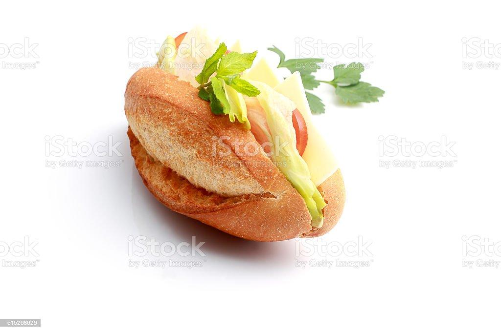 vegetarian baguette sandwich stock photo