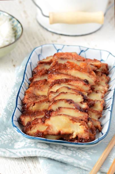 Vegetarian Barbecue Pork - Char Siu stock photo