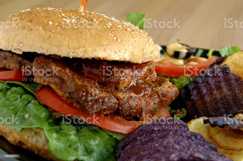 Vegetarian BBQ stock photo