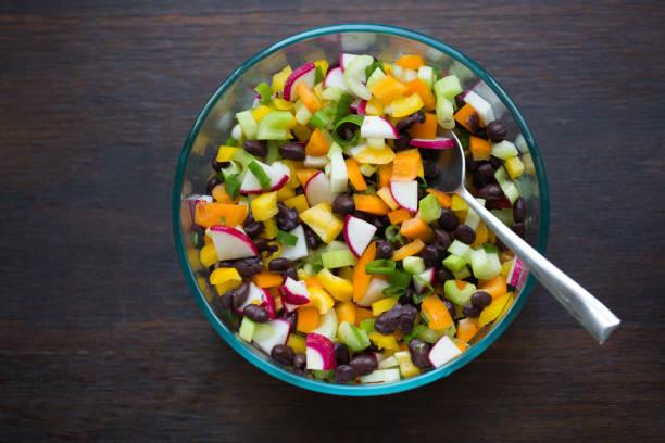 Vegetarian Bean Salad stock photo
