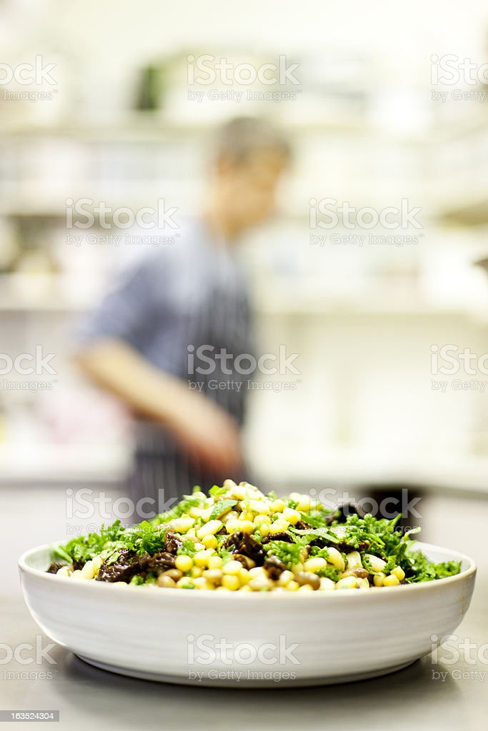 Vegetarian bean salad stock photo