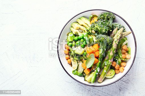 istock Vegetarian Buddha bowl. Organic and clean food. Healthy and balanced diet eating concept. 1149395469