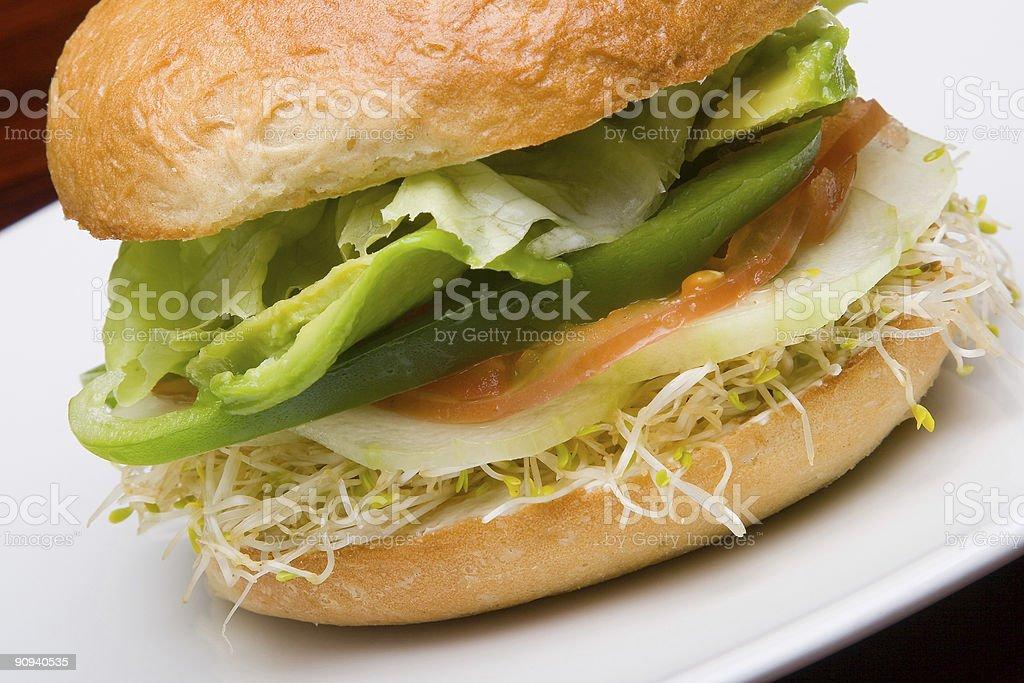 Vegetarian bun royalty-free stock photo