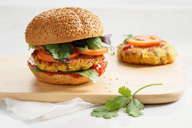 Vegetarische burger – Foto