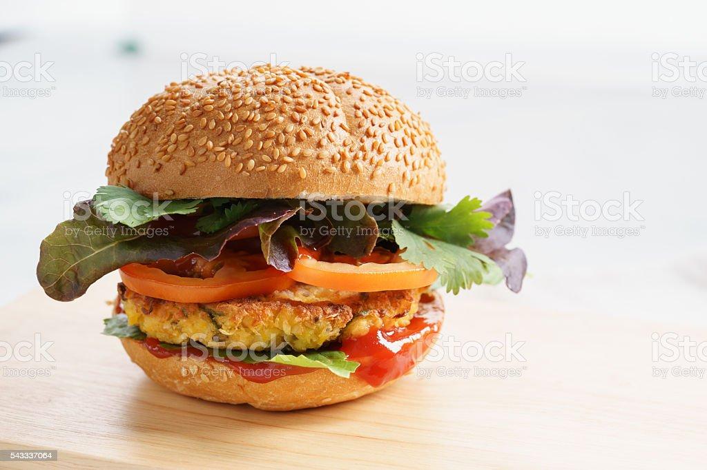 Vegetarian burger stock photo