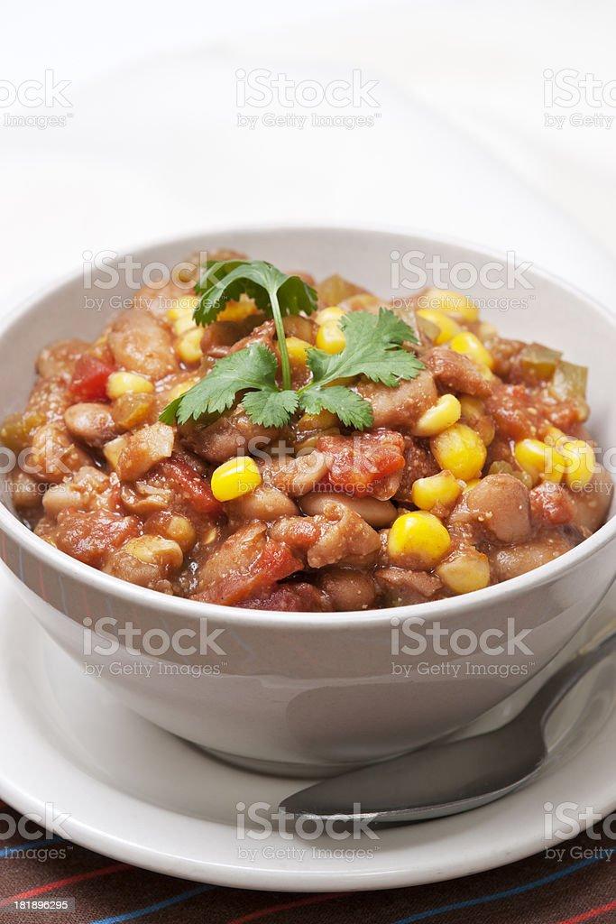 Vegetarian Chili royalty-free stock photo