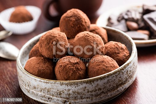 istock Vegetarian Chocolate Truffles 1180901509