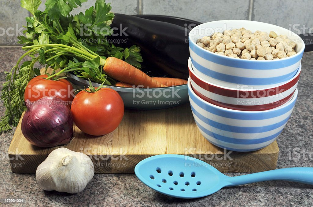 Vegetarian cooking concept royalty-free stock photo
