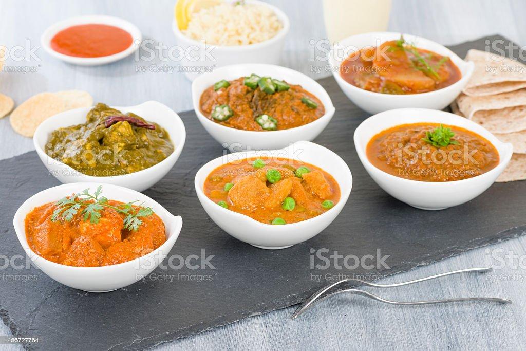 Vegetarian Curries stock photo