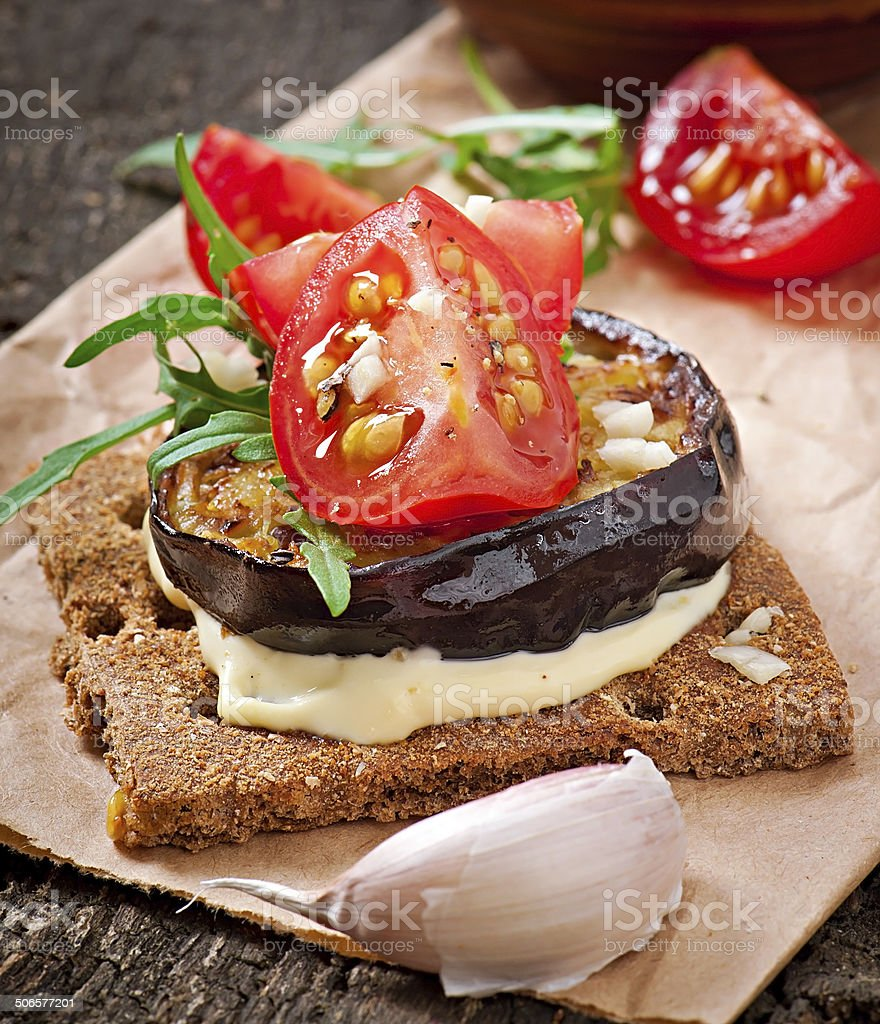 Vegetarische Diat Knackebrot Sandwiches Stock Fotografie Und Mehr