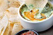 Vegetarian Dip with Salsa Chips