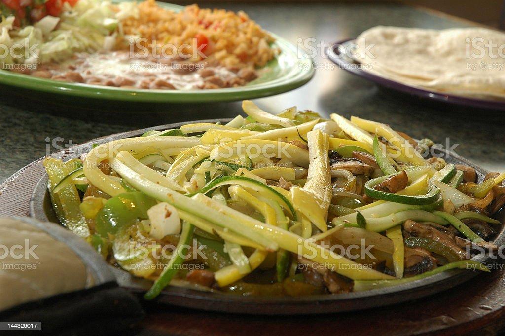 Vegetarian fajita royalty-free stock photo