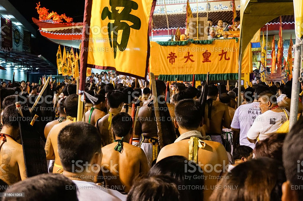 Vegetarian Festival 2014 In Phuket Thailand Stock Photo