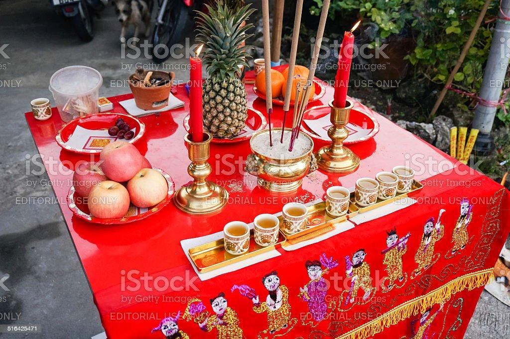 vegetarian festival 2014 in phuket, thailand stock photo