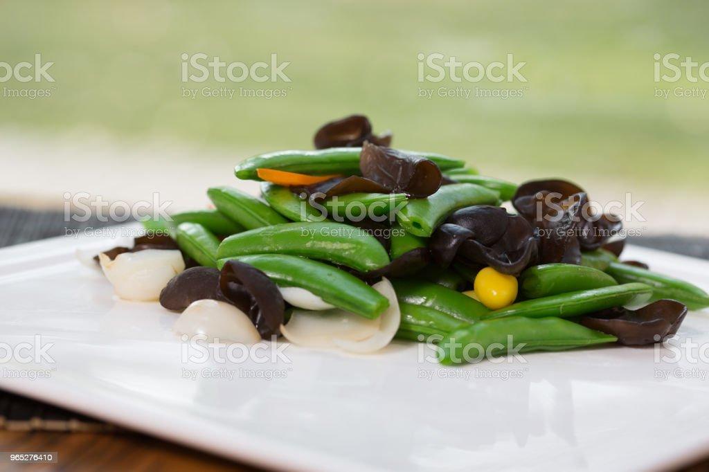 Vegetarian food & jew's ear zbiór zdjęć royalty-free