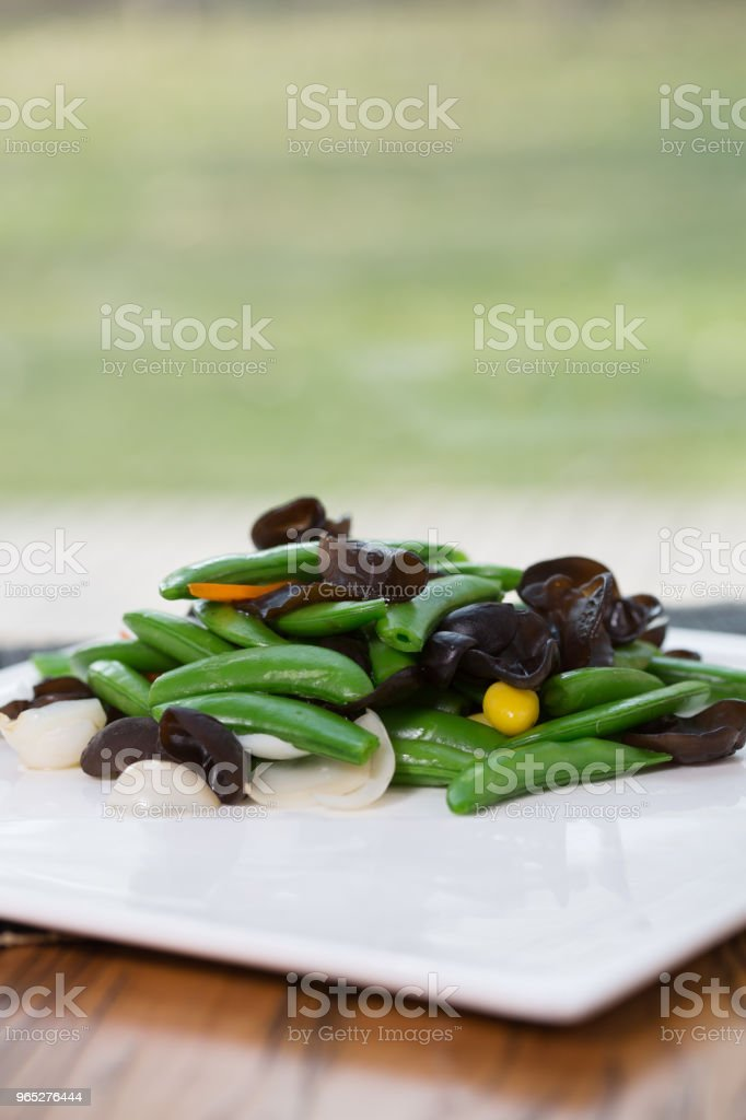 Vegetarian food & jew's ear royalty-free stock photo