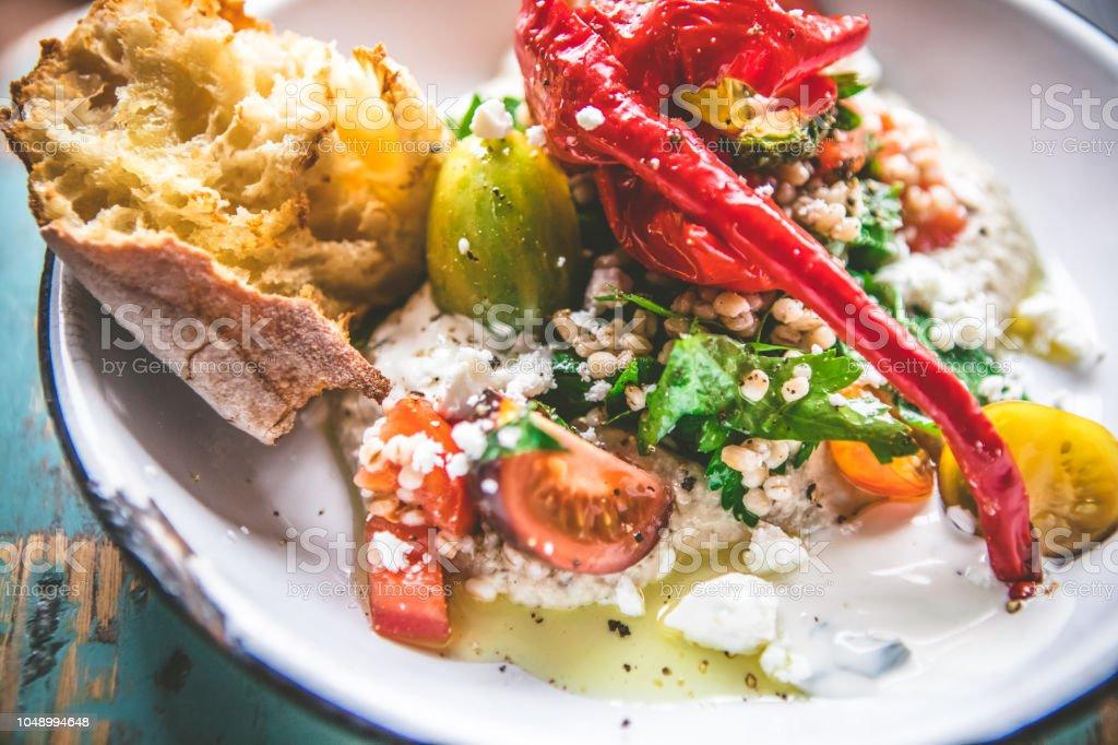 Vegetarian Food Mediterranean Diet Stock Photo - Download