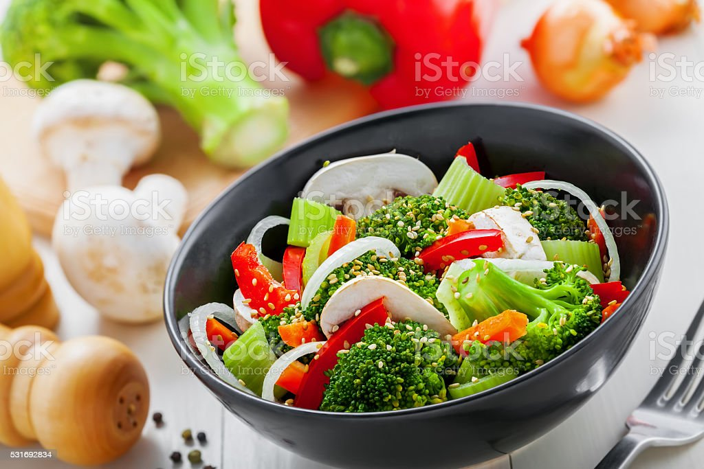 Vegetarian food stock photo