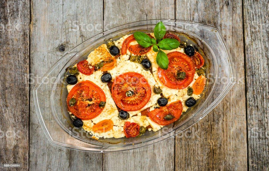 Vegetarian Food Plate Greek Cuisine Of Mediterranean Diet