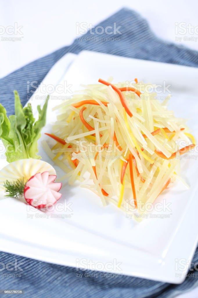 Vegetarian food & shredded potatoes zbiór zdjęć royalty-free