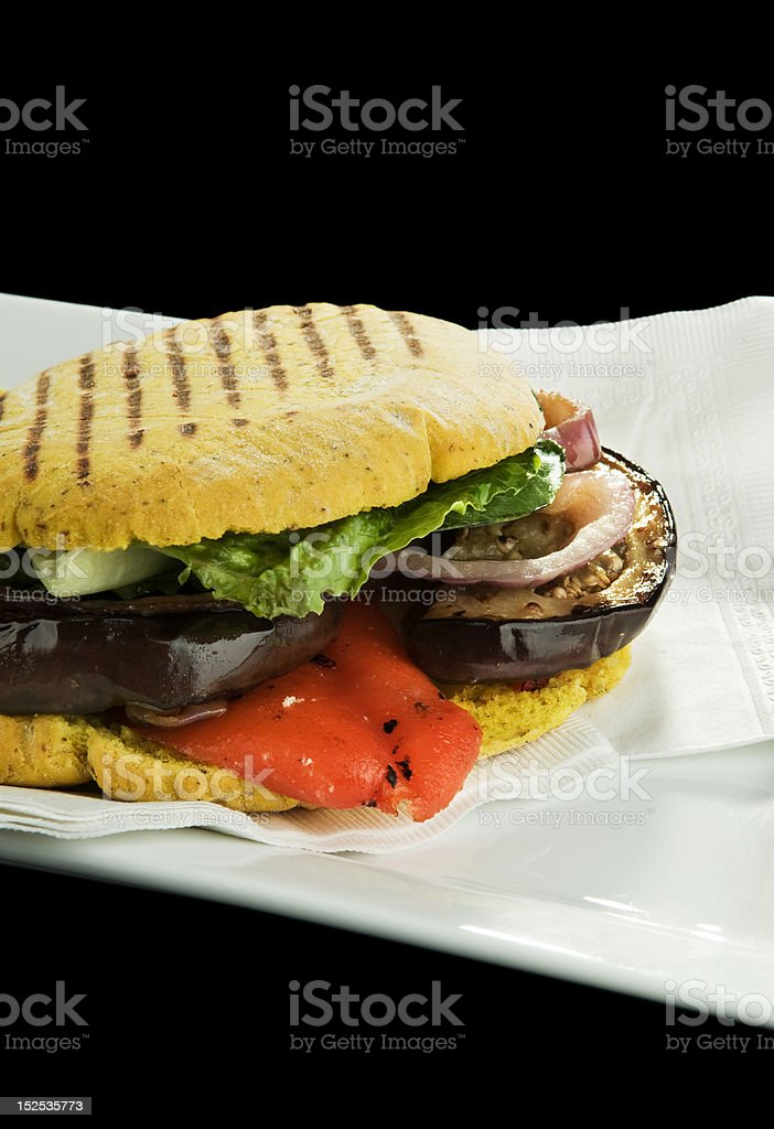 Vegetarian Grilled Sandwich royalty-free stock photo