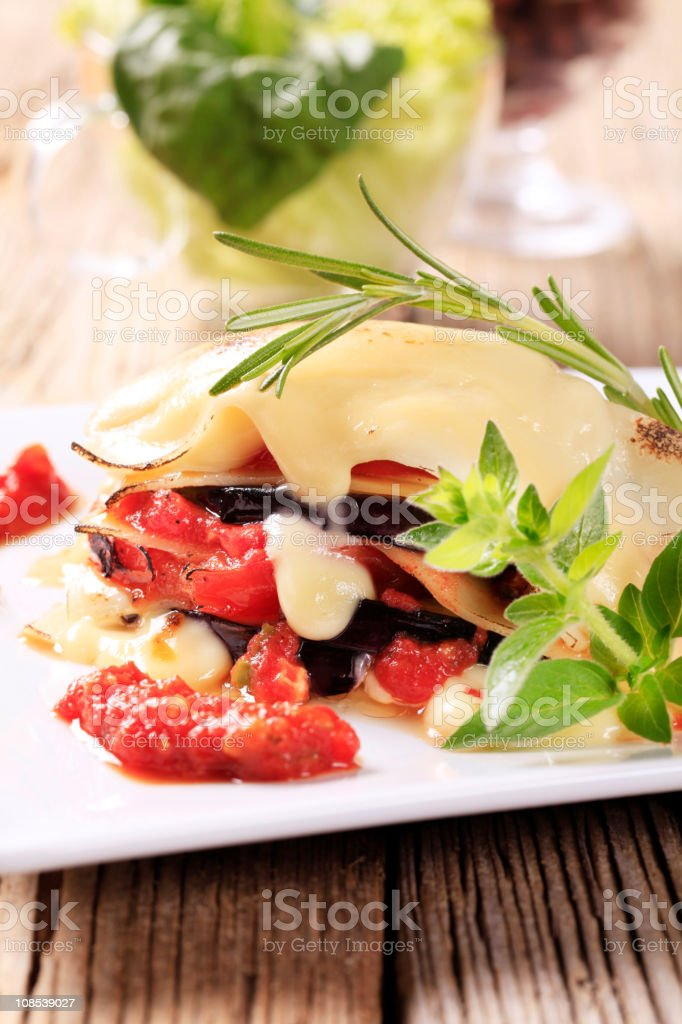 Vegetarian lasagna royalty-free stock photo