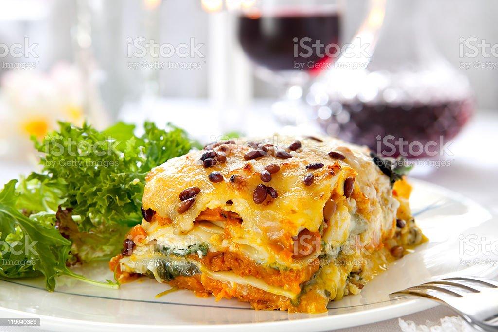 Vegetarian Lasagne stock photo