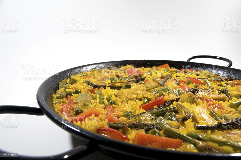Vegetarian Paella - Spanish rice royalty-free stock photo