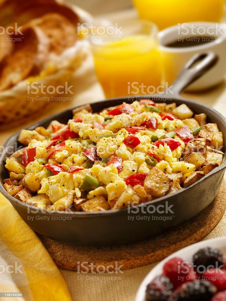 Vegetarian Pan Scrambler stock photo