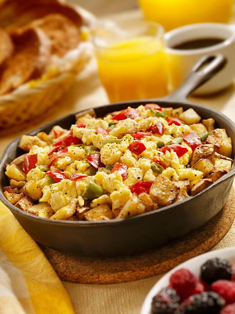 vegetarian pan scrambler - onion juice stock photos and pictures