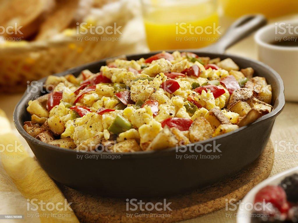 Vegetarian Pan Scrambler royalty-free stock photo