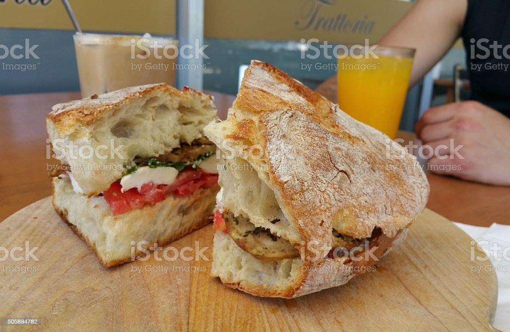 Vegetarian Panino stock photo