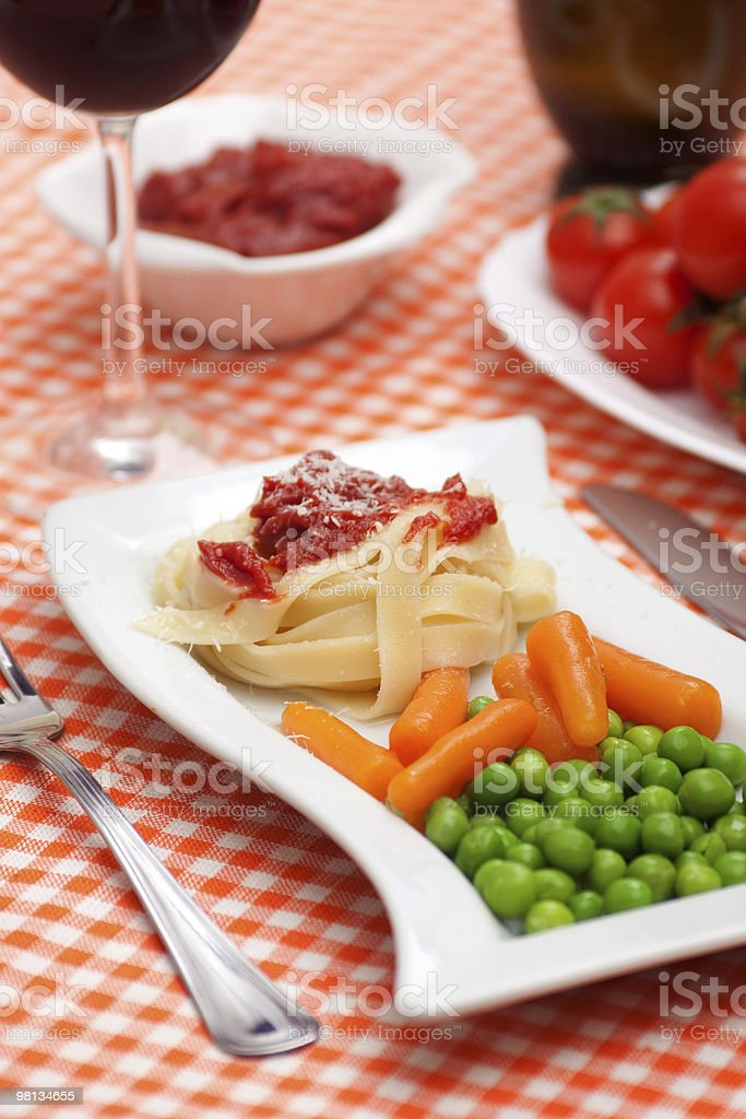 Vegetarian pasta royalty-free stock photo