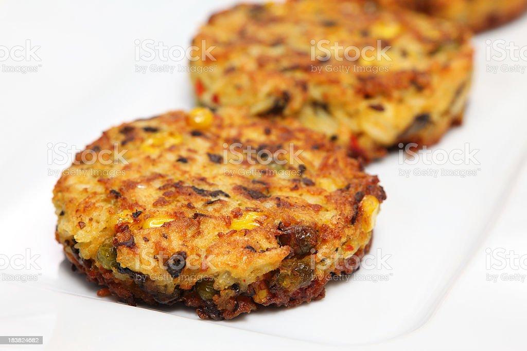Vegetarian patties royalty-free stock photo