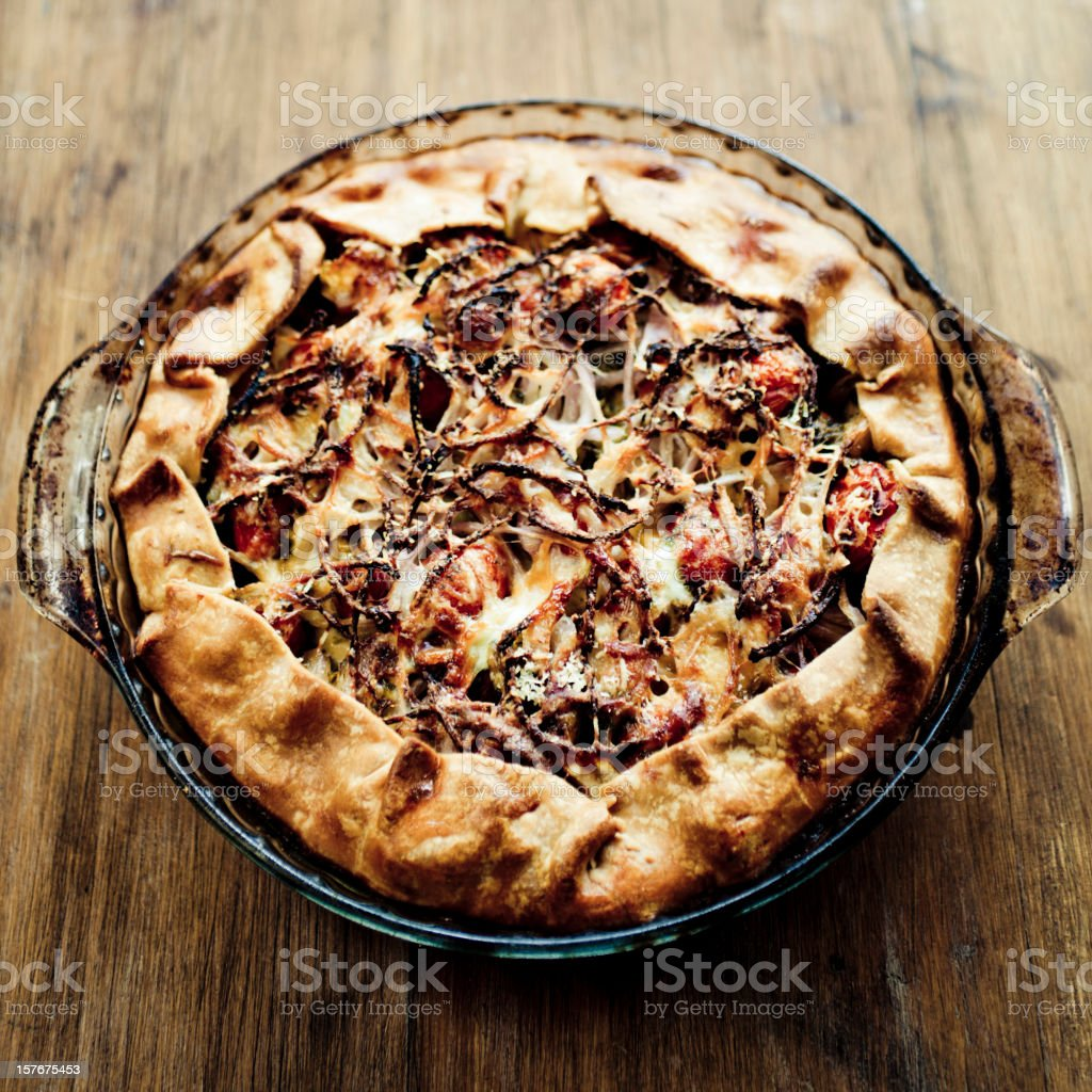 Vegetarian Pie royalty-free stock photo