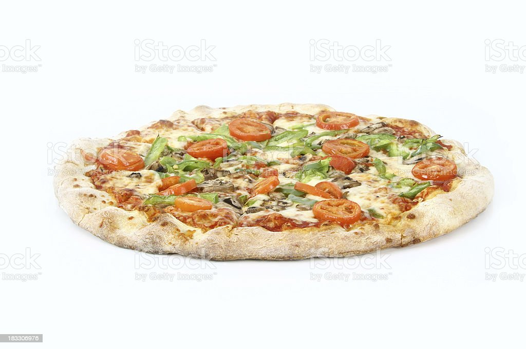 vegetarian pizza hole royalty-free stock photo