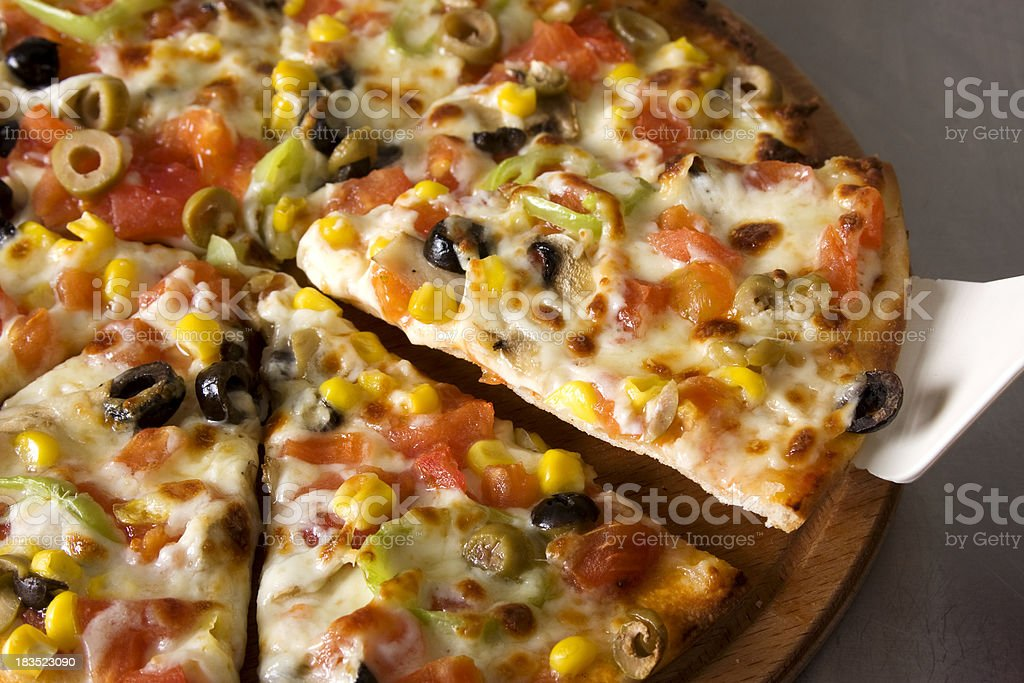 Vegetarian pizza royalty-free stock photo