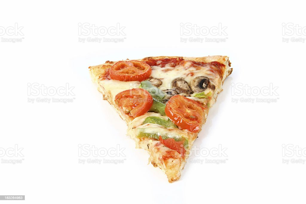 vegetarian pizza slice #2 royalty-free stock photo