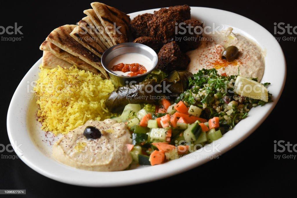 Vegetarian Platter Presented stock photo